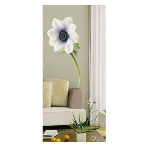 Sticker autocollant Fleur d'Anémone Blanche