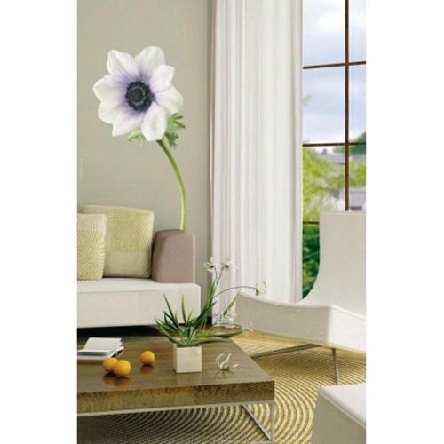 sticker Fleur d'Anémone Blanche dans un salon