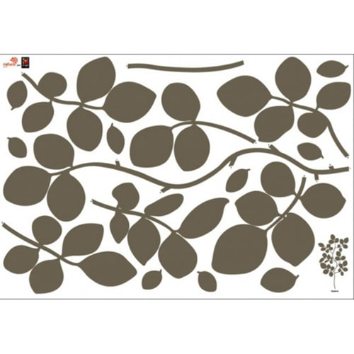 Sticker muraux Branches de Buisson Bronze