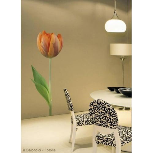 Sticker Tulipe Orange pour déco de la salle à manger