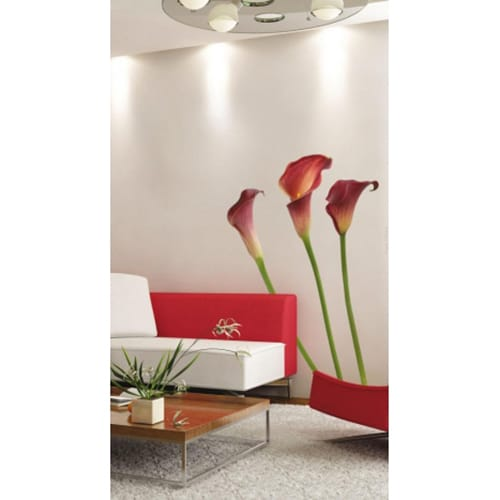 Sticker Fleurs d'Arums Passions pour déco mur salon et salle à manger