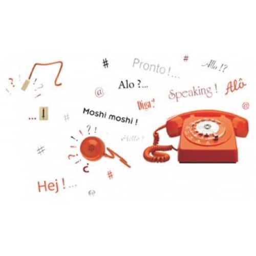 Sticker téléphone vintage pour décoration maison