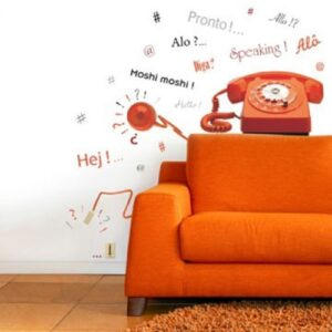 Sticker téléphone vintage pour déco salon