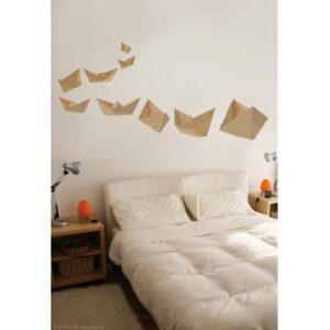 Sticker bateau en origami pour déco chambre