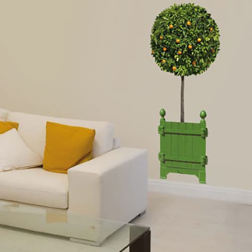 Sticker oranger taillé pour décoration de la salle à manger ou salon