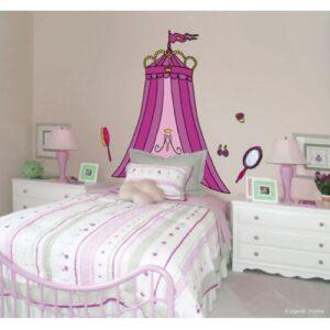 Sticker mural tête de lit Baldaquin de Princesse