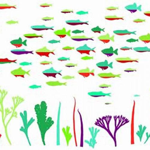 Sticker adhésif poissons Abysse Colorée !