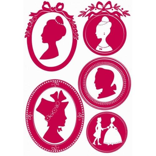 Portraits adhésifs prince et princesses