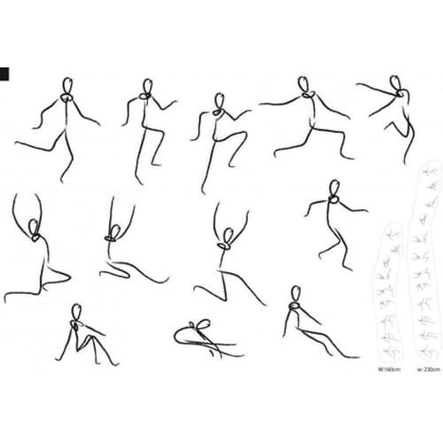 sticker bonhommes dansants