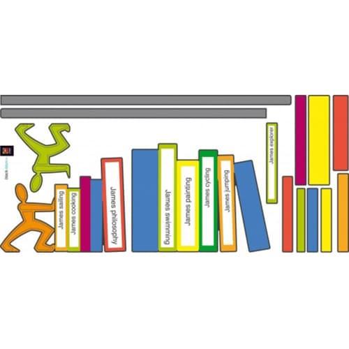 Sticker mural trompe-l'oeil Fausse Bibliothèque Black and Blum pour une déco chic