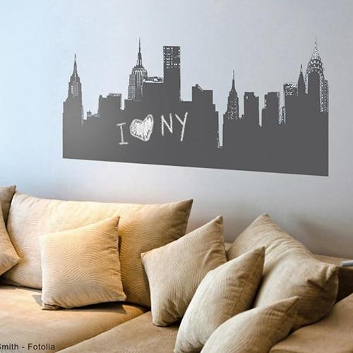 Stickers adhésif ardoise effaçable Vue de New-York