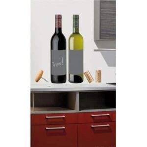 Stickers muraux adhésifs ardoises Bouteilles de vin, Bouchon, Tire Bouchon