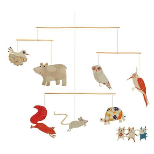 Sticker mural animaux marionettes