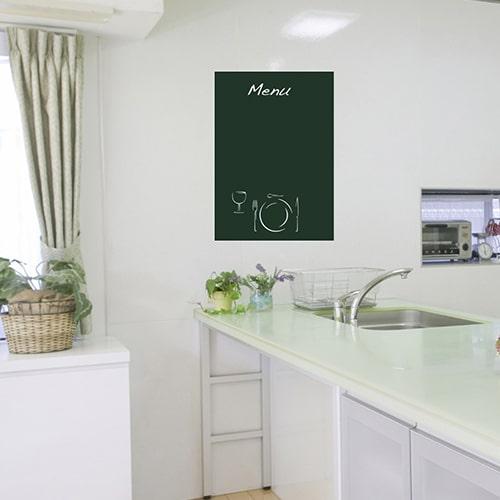 Stickers autocollants effaçable Menu dans une cuisine