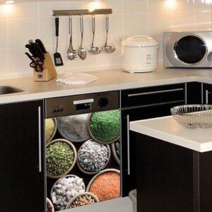 Stickers légumes secs pour lave vaisselle adhésifs