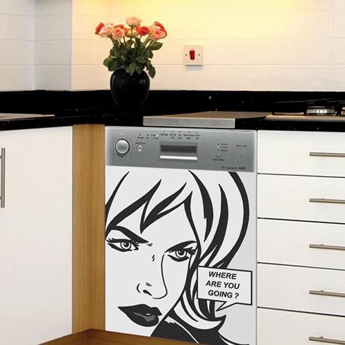 Stickers bande dessinée pour lave-vaisselle adhésifs