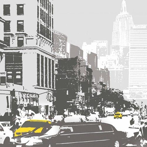 Sticker mural pour lave vaisselle New York
