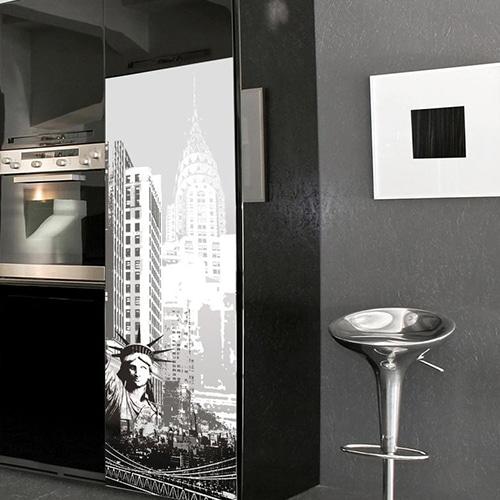 Stickers pour porte de frigo adhésifs New York USA