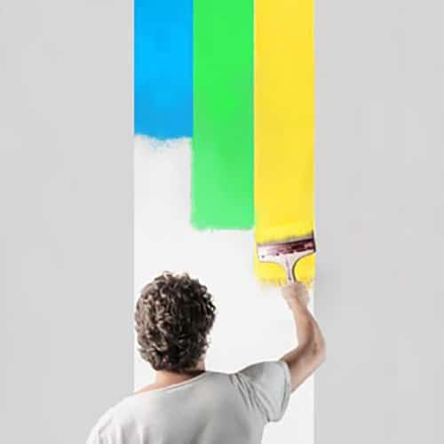Sticker mural à colorier