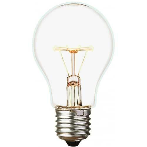 sticker décoratif ampoule