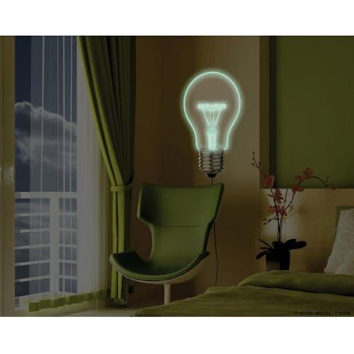 Sticker mural Ampoule géante lumineuse à coller au mur