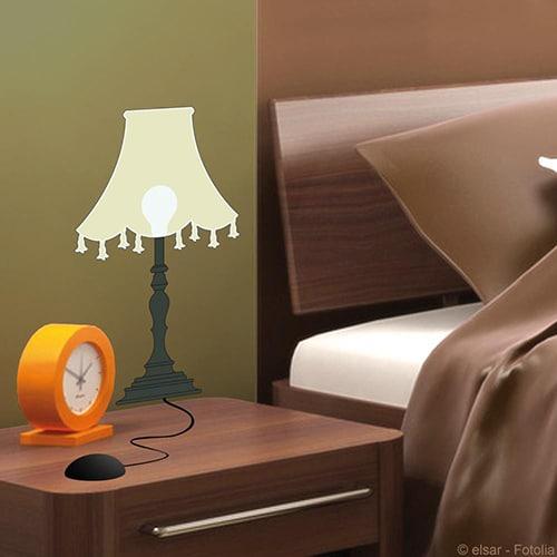 sticker adhésif lumineux lampe de chevet