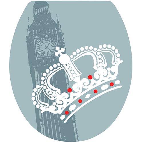 Offrez à vos WC une déco unique avec notre sticker effet Londres !