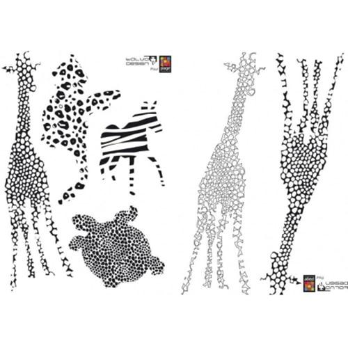 Sticker animaux géant de la savane à coller sur un mur