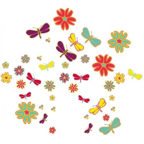Sticker muraux Libellules et Fleurs pop !