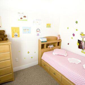 Stickers Animaux ardoise à colorier pour une chambre d'enfant