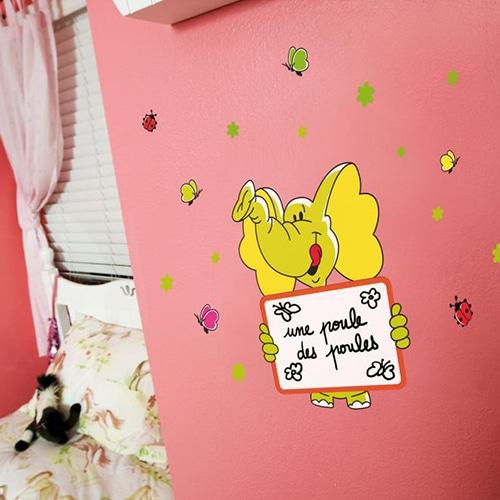 Stickers adhésifs Animaux ardoise à feutres pour chambre d'enfant