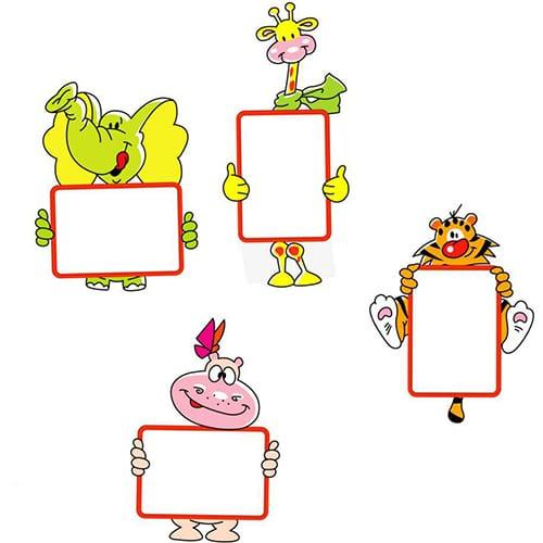 Stickers animaux ardoise à feutres à coller pour les enfants