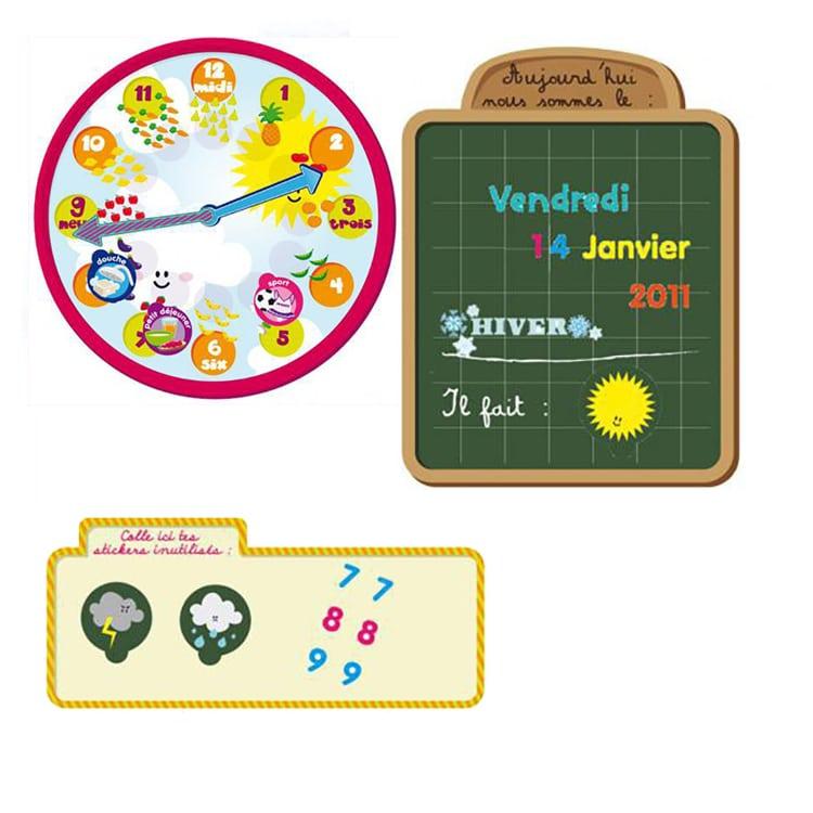 Sticker autocollant Calendrier pour les 3-5 ans