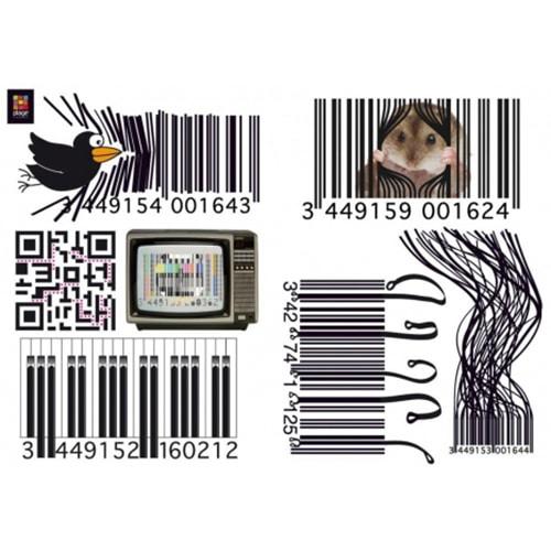 Sticker gencode vintage pour déco maison
