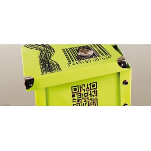 Sticker gencode vintage pour déco boite