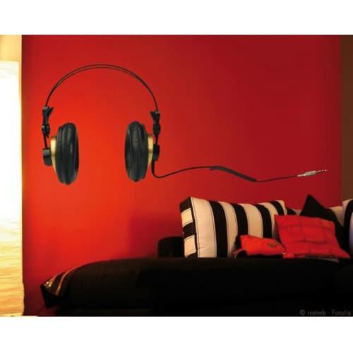 Sticker autocollant casque audio pour déco chambre
