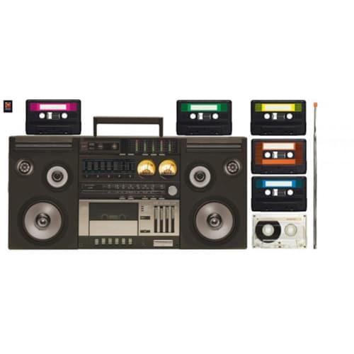 Sticker magnéto cassettes pour déco maison