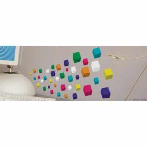 Stickers muraux cubes 3D
