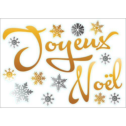 sticker autocollant Joyeux Noël