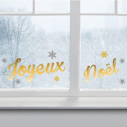 sticker Joyeux Noël Moderne sur une vitre