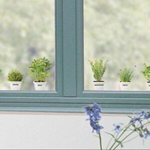 stickers électrostatiques pour vitres et fenêtres fausses Plantes Aromatiques