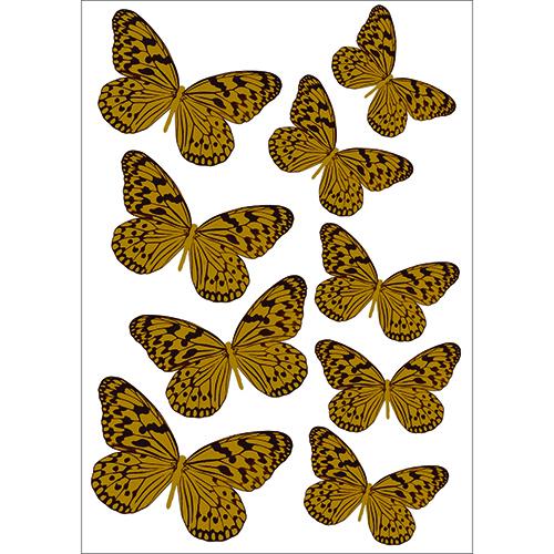 Sticker Papillons jaune pour déco