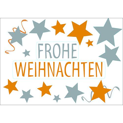 Déco de Noël pour vitres et fenêtres Stickers électrostatiques pour noël Frohe Weihnachten argent et or