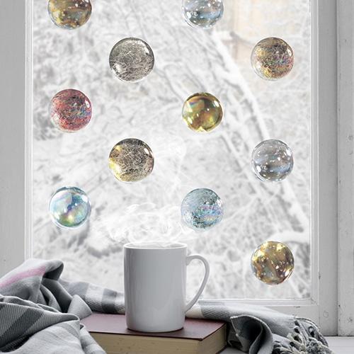 sticker autocollant Boules en verre décoration intérieure