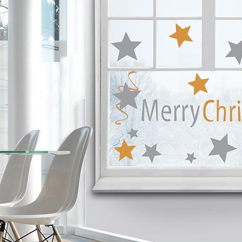 stickers autocollants Merry Christmas décoration intérieure