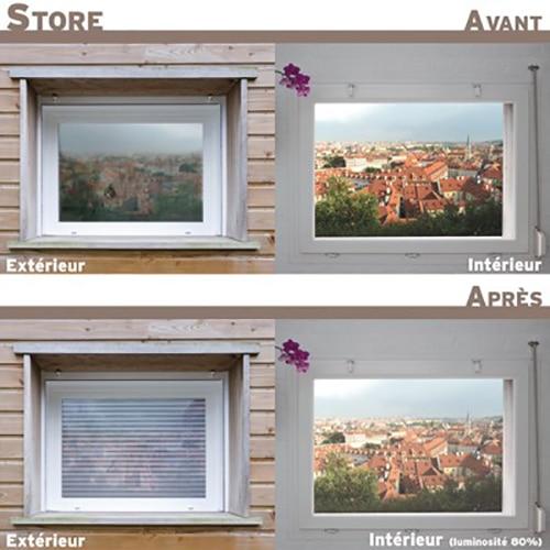 Sticker fenêtre trompe l'oeil Store