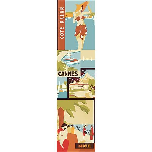 Sticker Affiche Côte d'Azur pour décoration de la maison