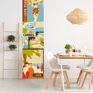 Sticker Affiche Côte d'Azur pour déco intérieur