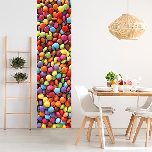 Sticker bonbons pour déco de salle à manger