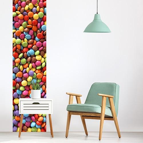 Sticker bonbons pour déco salon